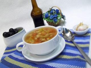 Постный овощной суп. Рецепт с фото