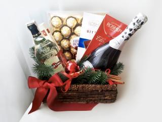 Ведерко для фруктов, сладостей, подарков к Новому году и Рождеству