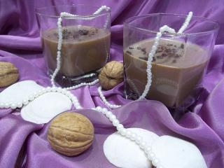 Кофейно-молочное желе с виски