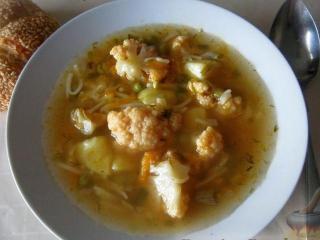 Овощной  суп с фрикадельками. Легкое блюдо