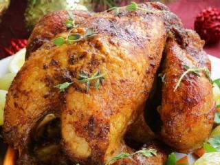 Жареная курица фаршированная