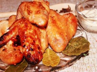 Куриные крылышки в горчице
