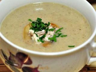 Куриный суп-пюре с шампиньонами