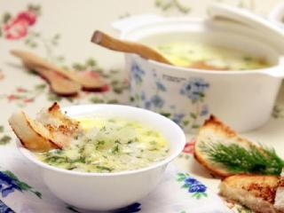 Сырный суп с кольраби. Вкусный простой рецепт супа. Быстрое первое блюдо