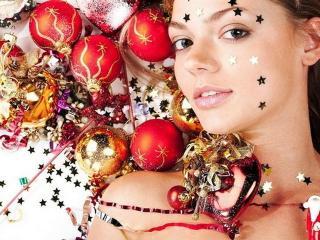 Новогодние праздники. Новогодний макияж