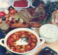 Блюда традиционной русской кухни.