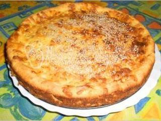 Сырный пирог с грецкими орехами