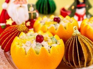 Салат апельсиновый с брынзой - отличный десерт для вашего стола.