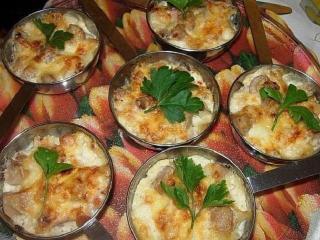 Рыба с грибами - жульен.  Вкусный рецепт рыбного блюда с грибами