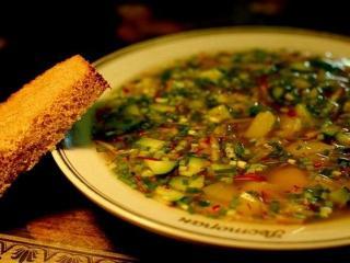 Окрошка с ревенем: рецепт и приготовление