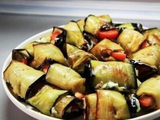 Как приготовить рулетики из баклажанов рулетики из баклажанов овощные закуски овощные блюда