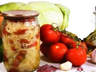Рецепты квашеной капусты: помидоры в капусте