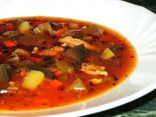 «Цветной» суп. Блюда из баклажан