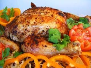Фаршированная курица с шампиньонами по-мадридски