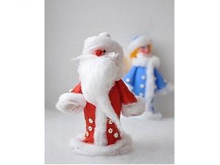Дед Мороз и Снегурочка - атрибуты Нового года. Сделайте игрушки своими руками вместе с детьми!