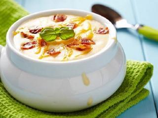 Сырный суп с белым хлебом. Вкусный быстрый рецепт супа.<br> Оригинальное первое блюдо на каждый день
