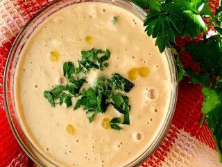 Чесночный суп-пюре. Блюда из баклажан