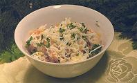 Вкусный рецепт салата. Закусочное блюдо