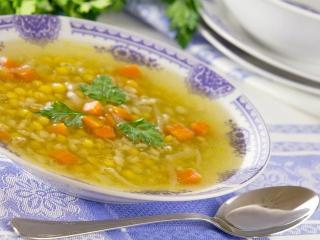 Гороховый суп с чесноком - рецепт с фото