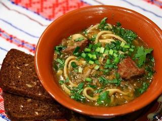 Чорба с телятиной и грибами. Оригинальные рецепты первых блюд. Национальная молдавская кухня