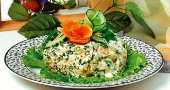 рецепт салат с овощами и мясом