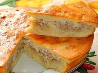 Рыбный пирог с консервированной рыбой