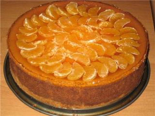 Торт с мандаринами - рецепт с фото